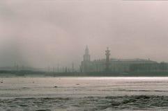 圣彼德堡, 3月雾 库存图片