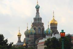 圣彼德堡:救主的教会血液的 免版税库存照片