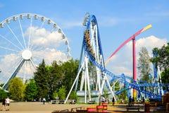 圣彼德堡 俄国 05 2018年 娱乐在游乐园 库存照片