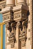 圣彼德堡 房子的装饰在街道Pestel -两条龙上的 免版税库存图片