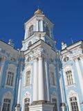 圣彼德堡 海大教堂的Nikolsky的片段 免版税库存照片