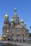圣彼德堡 血液教会救主 库存照片