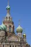 圣彼德堡 血液教会救主 库存图片