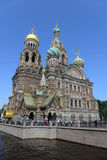 圣彼德堡 血液教会救主 图库摄影