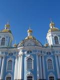 圣彼德堡 Nikolsky反对天空的海大教堂 库存照片