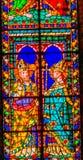 圣徒主教污迹玻璃窗中央寺院大教堂佛罗伦萨Ita 库存图片