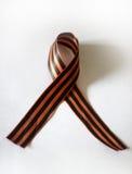 圣徒乔治丝带,军事勇气simbol在俄罗斯 库存图片