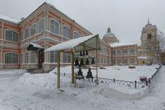 圣徒亚历山大・涅夫斯基修道院在圣彼得堡,俄罗斯 免版税库存图片