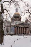 圣徒以撒` s大教堂地标彼得斯堡 库存图片