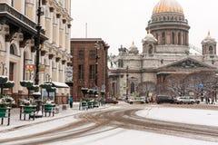 圣徒以撒` s大教堂地标彼得斯堡 图库摄影