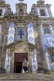 圣徒伊尔德方索-在巴洛克式的样式的18世纪大厦教会  库存图片