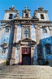 圣徒伊尔德方索波尔图教会的门面  葡萄牙 库存照片