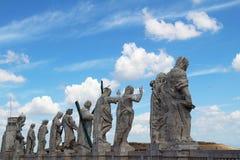 圣徒传道者的雕象 城市意大利罗马梵蒂冈 免版税图库摄影