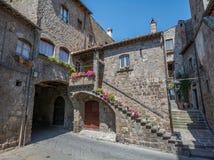 圣徒佩莱格里诺区在维泰博,拉齐奥意大利 免版税图库摄影