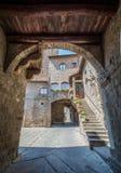 圣徒佩莱格里诺区在维泰博,拉齐奥意大利 库存图片