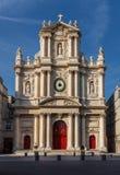 圣徒保罗圣徒路易斯门面,巴黎,法国教会  库存照片