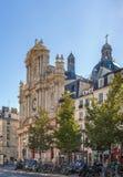 圣徒保罗圣徒路易斯,巴黎教会  库存照片