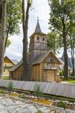 圣徒凯瑟琳历史的教会在Sromowce Nizne,波兰 免版税库存图片