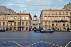 圣徒凯瑟琳在涅夫斯基远景的` s大教堂在圣彼得堡 俄国 免版税库存照片