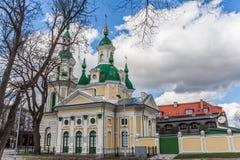 圣徒凯瑟琳教会在Parnu 免版税图库摄影