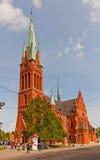 圣徒凯瑟琳教会(1897)在托伦,波兰 库存照片