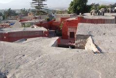 圣徒凯瑟琳西班牙语修道院:圣卡塔利娜在阿雷基帕秘鲁,是Domincan第二秩序的尼姑修道院它 免版税库存照片
