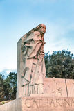 圣徒凯瑟琳锡耶纳雕象Castel Sant安吉洛罗马意大利 免版税库存图片