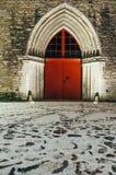 圣徒凯瑟琳` s多米尼加共和国的修道院,塔林门户  库存照片