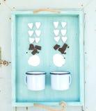 圣徒华伦泰的假日热巧克力烹调 免版税库存照片