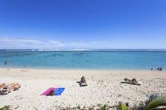 圣徒吉勒斯海滩, La雷乌尼翁冰岛,法国 库存照片