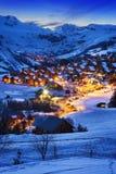 圣徒吉恩dArves,阿尔卑斯,法国 免版税图库摄影