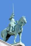 圣徒圣贞德骑马雕象  免版税库存照片