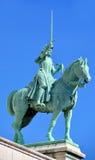 圣徒圣贞德骑马雕象  图库摄影
