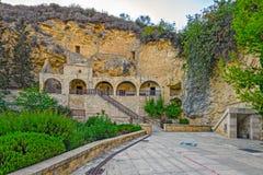 圣徒在帕福斯,塞浦路斯附近的Neophytos修道院 免版税图库摄影