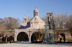 圣徒在Etchmiadzin教会,亚美尼亚的Vartan洗礼池 库存图片