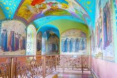 圣徒壁画在Pochayiv拉夫拉 图库摄影