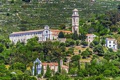 圣徒多米尼克de科尔巴拉女修道院在科西嘉岛 图库摄影