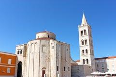 圣徒多纳特教会在扎达尔,克罗地亚从9世纪 免版税库存照片