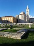 圣徒多纳特,市教会扎达尔,克罗埃西亚共和国 库存图片