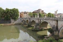 圣徒天使桥梁在罗马 免版税库存照片