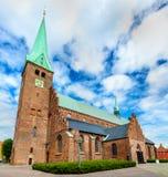 圣徒奥拉夫大教堂在老镇赫尔新哥-丹麦 免版税库存照片