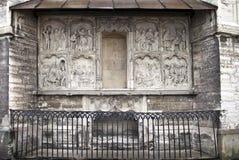 圣徒奥拉夫的教会(Oleviste),圣徒玛丽亚教堂,纪念碑创建者有基督的激情的图象的汉斯Pavels (1513) 图库摄影