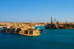 圣徒安吉洛堡垒,马耳他 免版税图库摄影