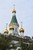 圣徒尼古拉什俄国教会在索非亚 库存图片