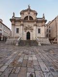 圣徒布勒斯教会在杜布罗夫尼克市,克罗地亚 免版税库存照片