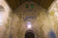 圣徒布勒斯des simples教堂,米利la foret,法国 免版税库存照片