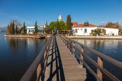 圣徒帕帕佐普洛斯修道院。 在色雷斯,希腊的波尔图拉各斯地区。 免版税库存照片
