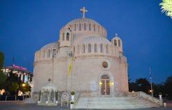 圣徒康斯坦丁和格利法扎海伦正统大教堂在格利法扎,雅典, 2017年6月20日的希腊 图库摄影