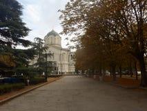 圣徒弗拉基米尔大教堂在塞瓦斯托波尔,克里米亚 库存照片