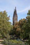 圣徒彼得和保罗大教堂  维谢格拉德 布拉格 cesky捷克krumlov中世纪老共和国城镇视图 库存照片